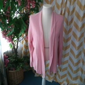 Eileen Fisher  Plus Size 1X Light Pink cardigan